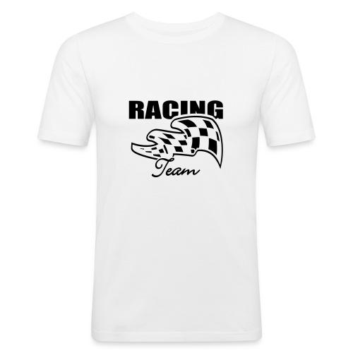 Racing weiß - Männer Slim Fit T-Shirt