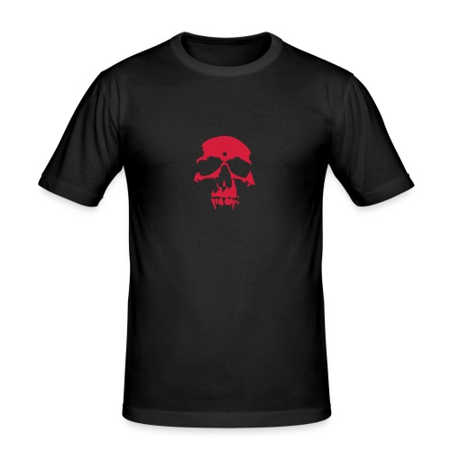 Vampire Skull T-shirt Red - Men's Slim Fit T-Shirt