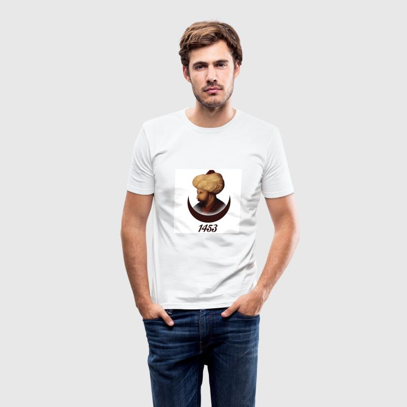 Fatih Sultan Mehmet in 1453 - Men's Slim Fit T-Shirt