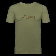 T-Shirts ~ Männer Slim Fit T-Shirt ~ München4Men - ohne Worte (Slimfit)