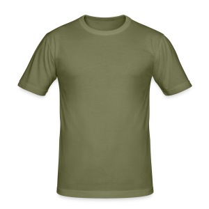 Fitted T Shirt / Olive - Men's Slim Fit T-Shirt