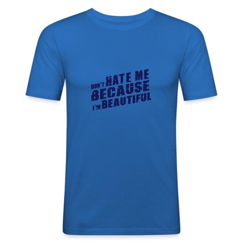 Don´t Hate me hellblau - Männer Slim Fit T-Shirt