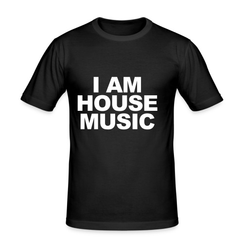 Männershirt I AM Housemusic - Männer Slim Fit T-Shirt