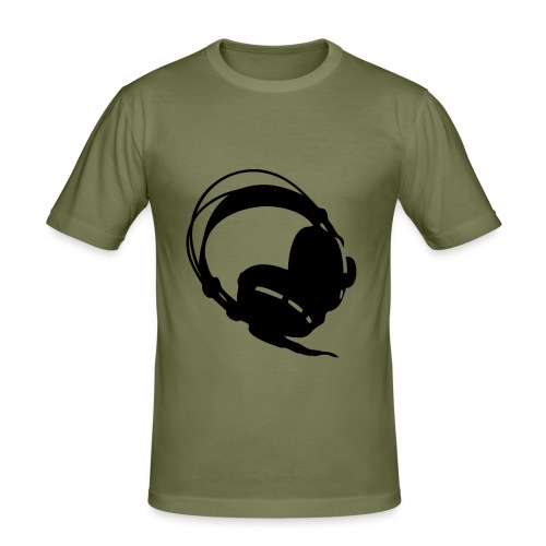 koptelefoon lichtbruin - slim fit T-shirt