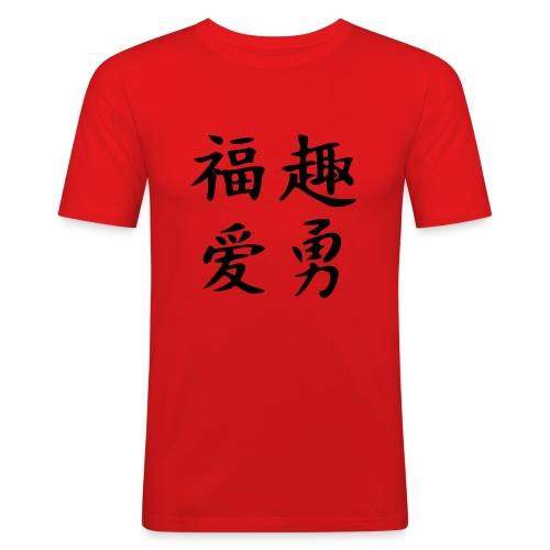 Glück,Spaß,Liebe,Mut - Männer Slim Fit T-Shirt