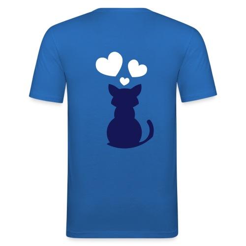 Cat in Love - Männer Slim Fit T-Shirt