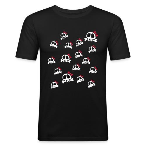 Bow Skull - Men's Slim Fit T-Shirt