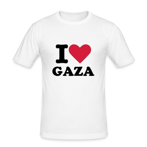 I love Gaza - Men's Slim Fit T-Shirt
