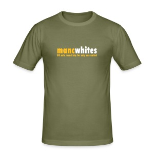 MANCWHITES 80 MILE ROUND TRIP FOR... - Men's Slim Fit T-Shirt