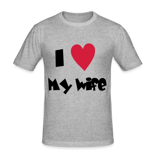 i love my wife - Herre Slim Fit T-Shirt