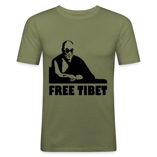 T-Shirt - Maglietta Free Tibet - Maglietta aderente da uomo