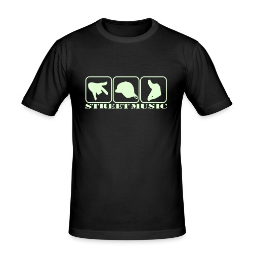 Street Music Tshirt - Männer Slim Fit T-Shirt