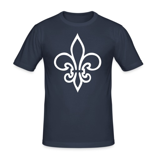 Lilien-Shirt ohne Aufschrift - Männer Slim Fit T-Shirt