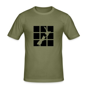 NZ Outline T-shirt - Men's Slim Fit T-Shirt