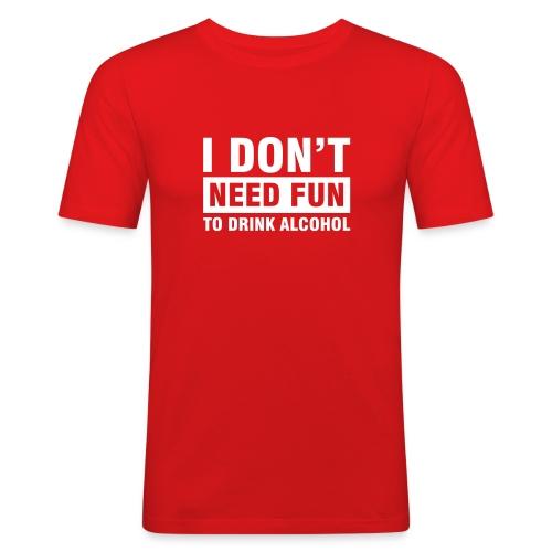 Ich will Spass - Männer Slim Fit T-Shirt