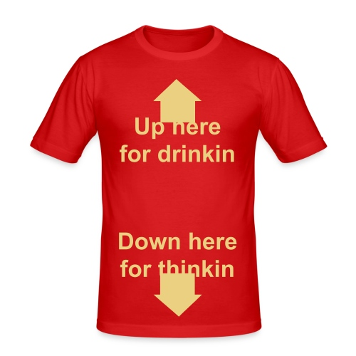 Thinkin & Drinkin - Men's Slim Fit T-Shirt