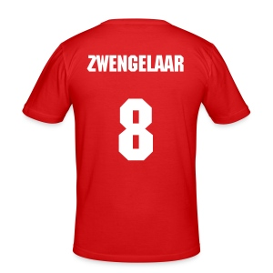 Oranje shirt - Zwengelaar - slim fit T-shirt