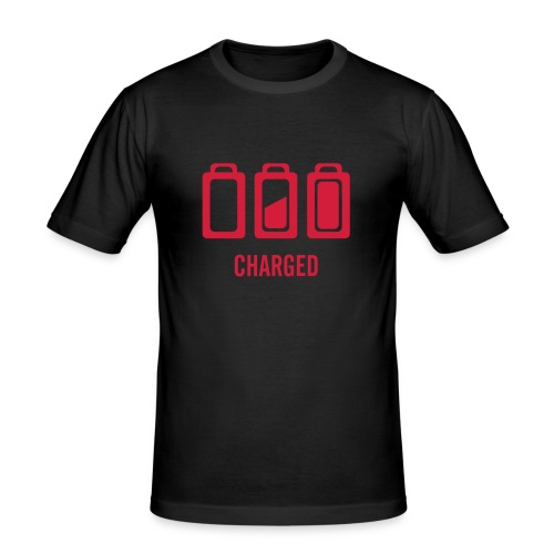 Charged ! For the night ! - T-shirt près du corps Homme