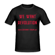 T-Shirts ~ Männer Slim Fit T-Shirt ~ We Want 2 (Front)