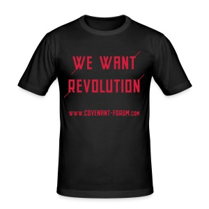 We Want 2 (Front) - Männer Slim Fit T-Shirt