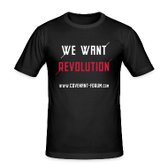 T-Shirts ~ Männer Slim Fit T-Shirt ~ We Want 1 (Front)