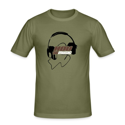 Headshell Olive - Männer Slim Fit T-Shirt