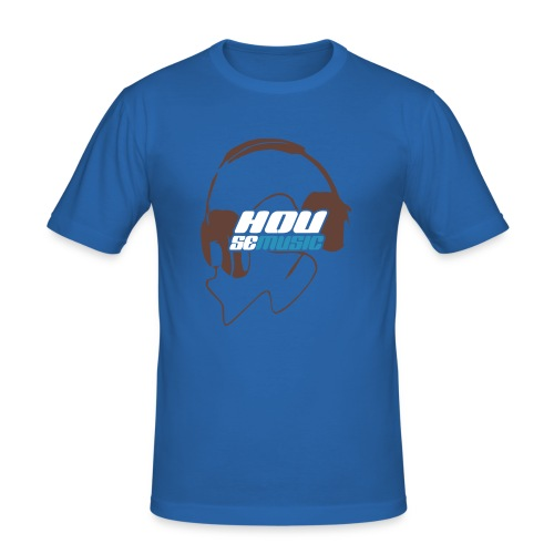 Headphone Hellblau - Männer Slim Fit T-Shirt