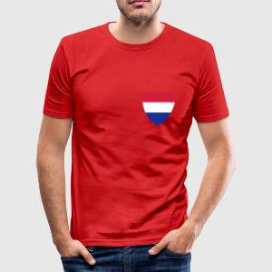 Dark orange nederlands Heren t-shirts - slim fit T-shirt