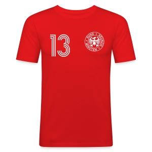 D. Bakel 13 (Away) - Männer Slim Fit T-Shirt