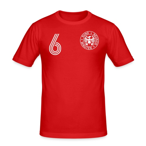 DOPPEL 6 (Away) - Männer Slim Fit T-Shirt