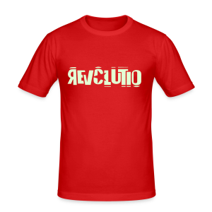 REVOLUTIO (Glow in the Dark) - Männer Slim Fit T-Shirt