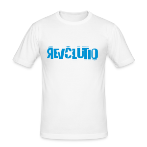 REVOLUTIO (LightBlue) - Männer Slim Fit T-Shirt