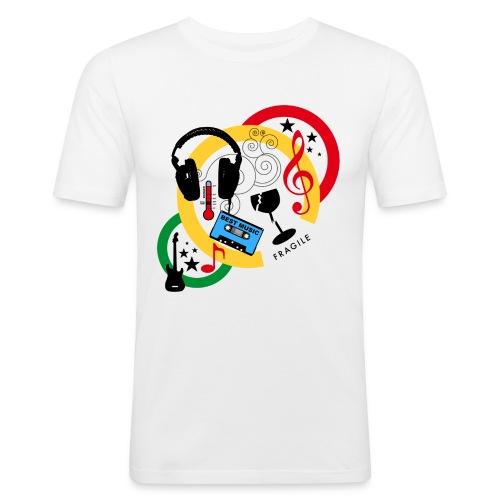 Mixed - T-shirt près du corps Homme