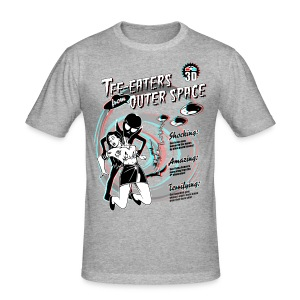 Tee-Eaters from Outer Space (3D) - Men's Slim Fit T-Shirt