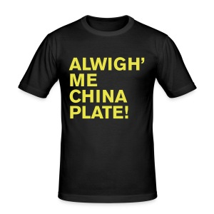 ALWIGH ME CHINA PLATE - Men's Slim Fit T-Shirt