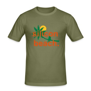 Silicon Beach - men's slim tee - Men's Slim Fit T-Shirt