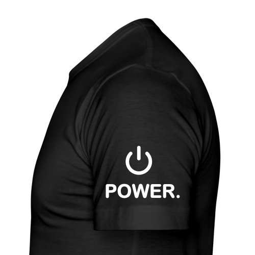 Member T-Shirt mit Power-Logo - Männer Slim Fit T-Shirt
