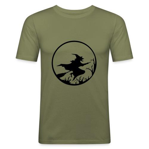 T-Shirt Besenhexe camel/schwarz - Männer Slim Fit T-Shirt