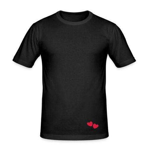 Vallentine-skjorte (sort/mann) - Slim Fit T-skjorte for menn
