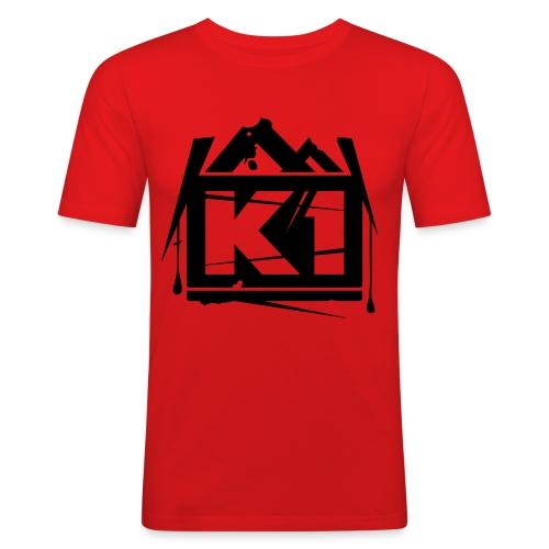K1 (Red, SlimFit) - slim fit T-shirt