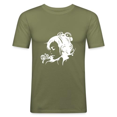 MusicMeansLife - Männer Slim Fit T-Shirt