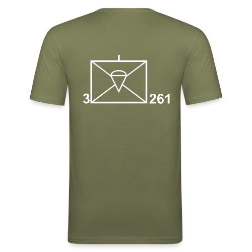 T-Shirt Taktisches Zeichen mit Namen - Männer Slim Fit T-Shirt