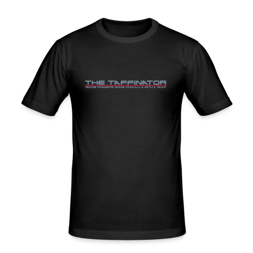 Taffinator BLACK Slim Doolally - Men's Slim Fit T-Shirt