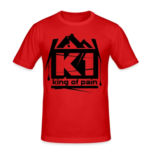 King of pain (Red, SlimFit) - slim fit T-shirt