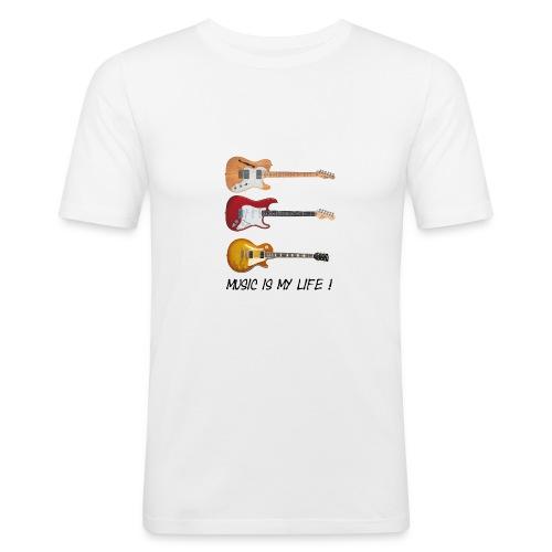 Gitarist Jazz - Slim Fit T-skjorte for menn