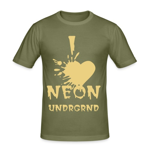 I Love NEONUNDRGRND - Men's Slim Fit T-Shirt