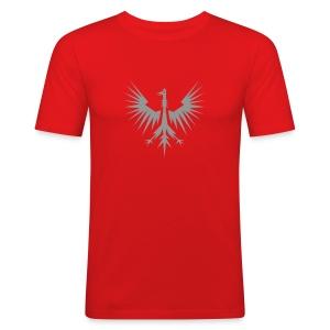 Adler-Wappen Shirt - Männer Slim Fit T-Shirt