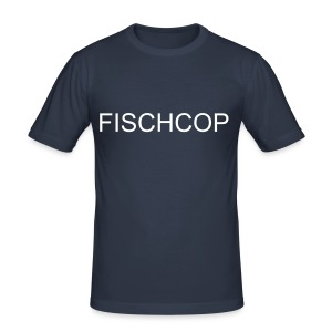 Fischcop Jan Fedder - Männer Slim Fit T-Shirt