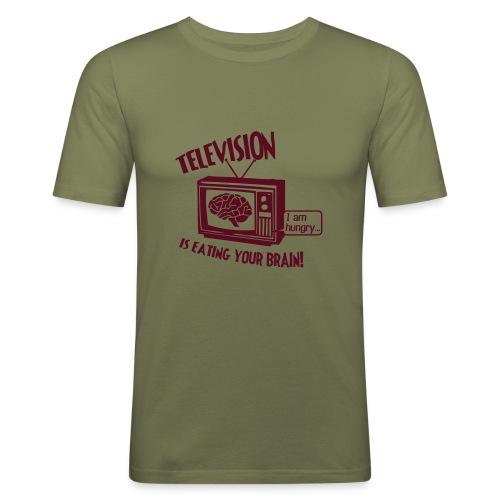 Hungry TV - Men's Slim Fit T-Shirt