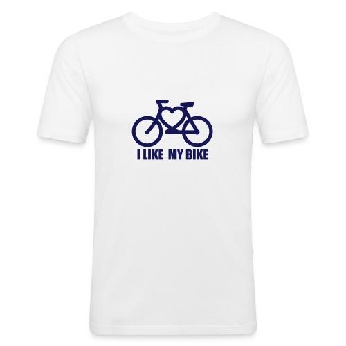 I Like My Bike - Men's Slim Fit T-Shirt